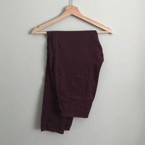 American Apparel // Hi-Rise Easy Jean in Burgundy